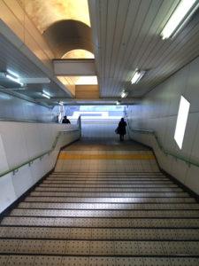 竹田駅4番出口階段