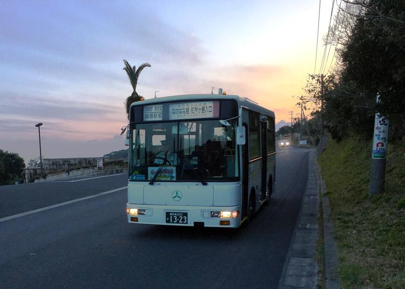 ヘルシーランドから指宿駅へ向かうバス