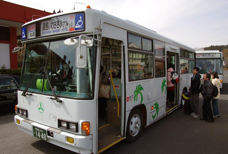 霧島神宮駅から霧島神宮に向かうバス