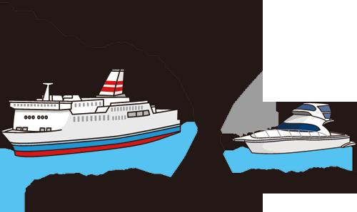船の大きさの比較