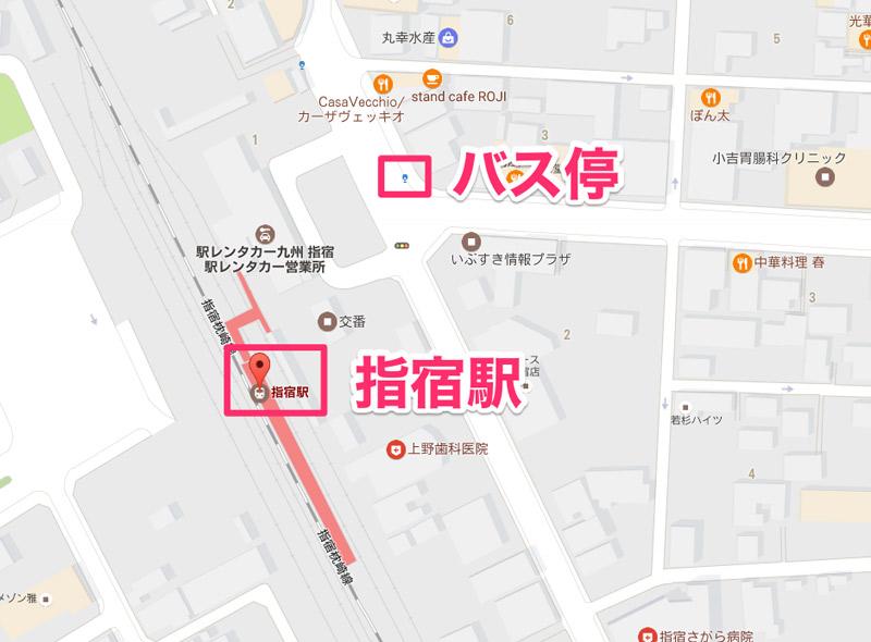 指宿駅_バス停までの行き方