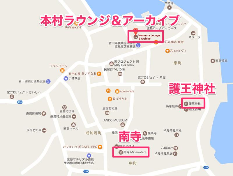 本村地区の地図