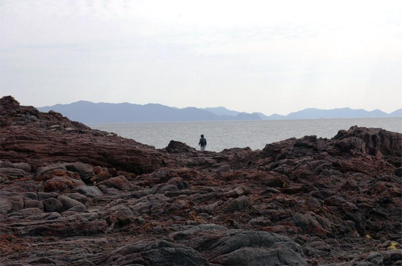 長崎鼻_岩礁地帯