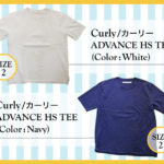 CURLYのADVANCEHS TEE
