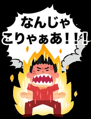 怒りと失望