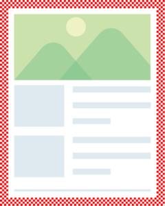 枠線を画像にしたサイト