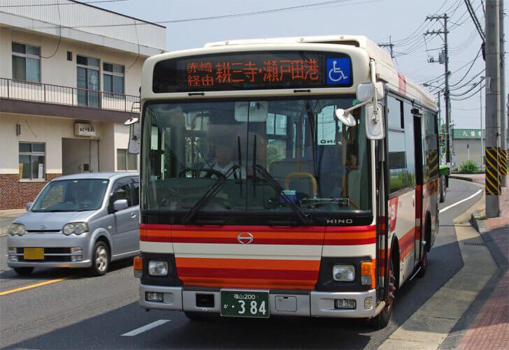 耕三寺行きのバス