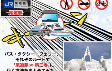 尾道駅から耕三寺への行き方