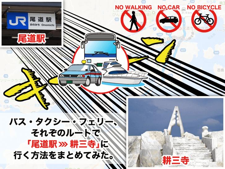「尾道駅」から「耕三寺」への行き方は? 公共交通機関でのアクセス方法をまとめてみた。