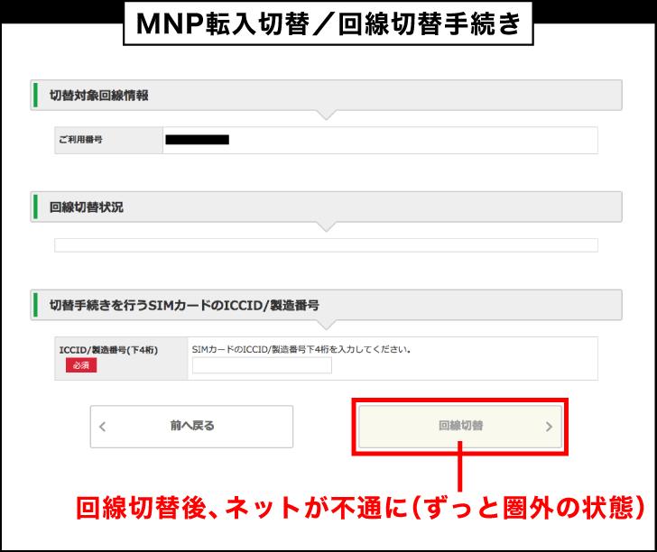 マイネオのMNP転入切替/回線切替手続き