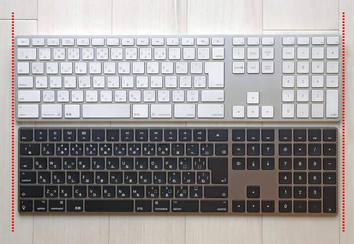 Magic Keyboardと有線キーボードを比較