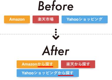 ボタンの文言に「〜から探す」という文言を追加