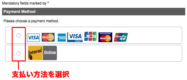 Please choose a payment method.