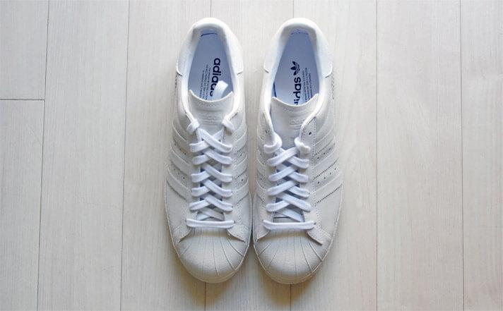 adidas(アディダス)のスーパースター 80s| 真上からの写真