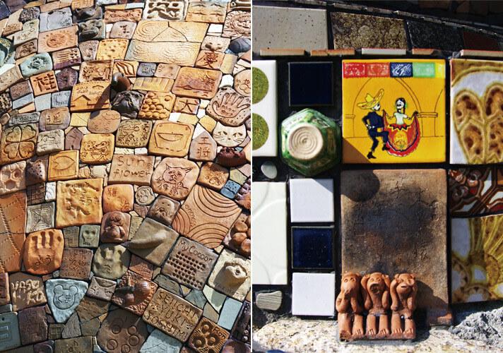 犬島ハウスプロジェクト「犬島の島犬」の素材群
