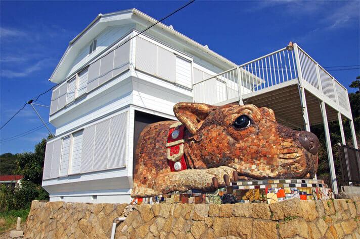 犬島ハウスプロジェクト「犬島の島犬」