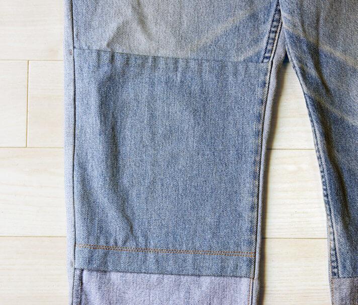 masao shimizu(マサオ シミズ)|2015A/Wの再構築デニムパンツの膝