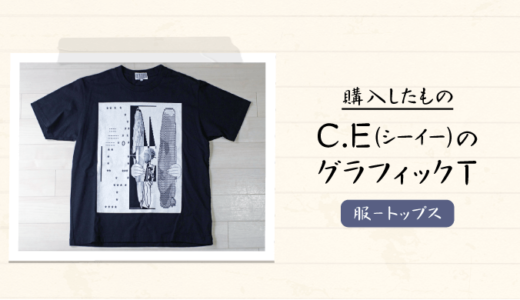 スケシンが手がけるブランドC.E(シーイー)のグラフィックTシャツを購入 – 感想・レビュー【メンズおすすめブランド】