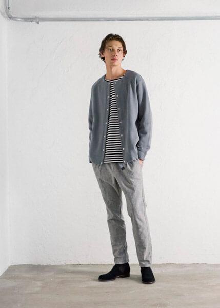 Curly(カーリー) のBRUSH BORDER TEE( ブラッシュ ボーダー Tシャツ)|着用画像