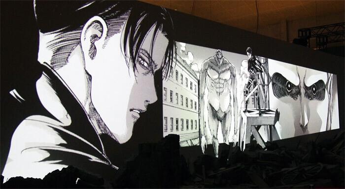 『進撃の巨人展FINAL』を写真で振り返り in 大阪・ひらかたパーク|1分の1ジオラマシアター「巨人大戦」|リヴァイ対獣の巨人