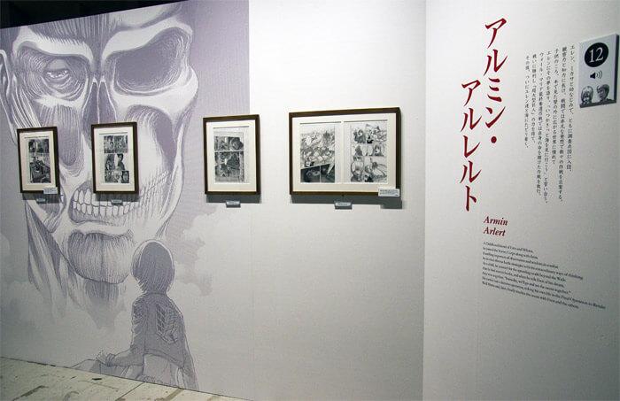 『進撃の巨人展FINAL』を写真で振り返り in 大阪・ひらかたパーク|原画の世界3「英雄たち」|アルミン・アルレルト
