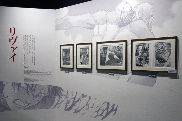 『進撃の巨人展FINAL』を写真で振り返り in 大阪・ひらかたパーク|原画の世界3「英雄たち」|リヴァイ・アッカーマン