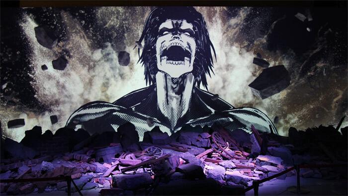 『進撃の巨人展FINAL』を写真で振り返り in 大阪・ひらかたパーク|1分の1ジオラマシアター「巨人大戦」|エレンの巨人化