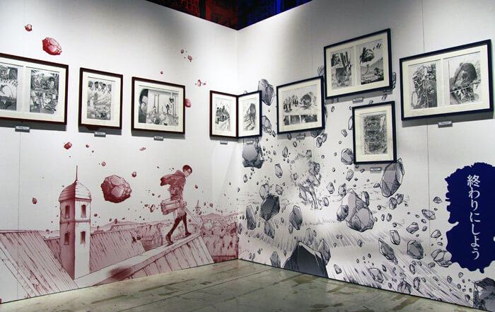 『進撃の巨人展FINAL』を写真で振り返り in 大阪・ひらかたパーク|原画の世界2「衝突と死闘」|リヴァイ対獣の巨人
