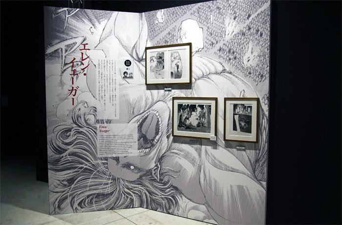 『進撃の巨人展FINAL』を写真で振り返り in 大阪・ひらかたパーク|原画の世界3「英雄たち」|エレン・イェーガー