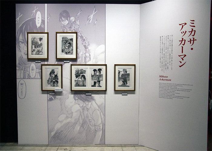 『進撃の巨人展FINAL』を写真で振り返り in 大阪・ひらかたパーク|原画の世界3「英雄たち」|ミカサ・アッカーマン