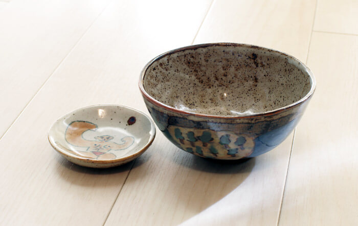 ちえちひろのお茶碗と刺身皿