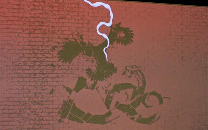 「天才になれなかった全ての人へ」ドラマで話題沸騰の漫画!左ききのエレンの展覧会に行ってきた! in 横浜・アソビル|ジェイコブズとエレンの共作(グラフィティーアート)