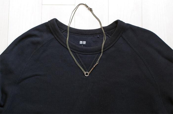 WERKSTATT:MUNCHEN(ワークスタットミュンヘン)のシルバーアクセサリー|ネックレスの着用イメージ
