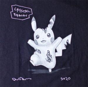 【ユニクロ-UT】ダニエル・アーシャムとポケモンのコラボTシャツ|前身頃にプリントされたグラフィック