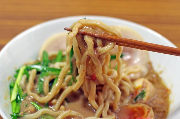麺屋 極鶏のつけ麺|箸上げ