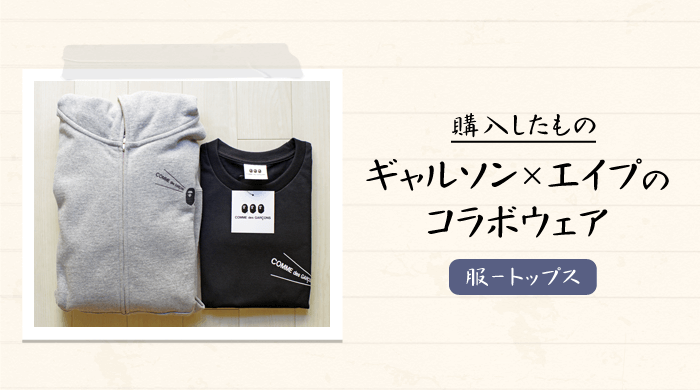 【大阪限定】COMME des GARCONS(コム・デ・ギャルソン)×A BATHING APE(ア・ベイシング・エイプ)のコラボTシャツとパーカーを購入