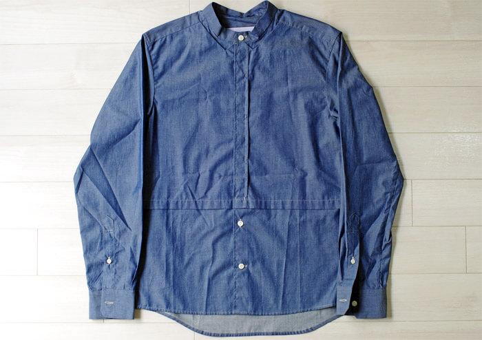 【メンズおすすめブランド】masao shimizu(マサオ シミズ)|2016ssの衿切り抜きシャツ|前面
