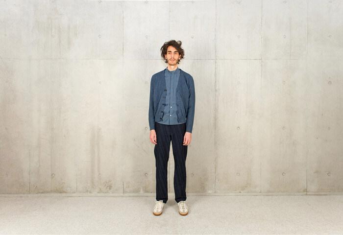 【メンズおすすめブランド】masao shimizu(マサオ シミズ)|2016ssの衿切り抜きシャツ|着用イメージ