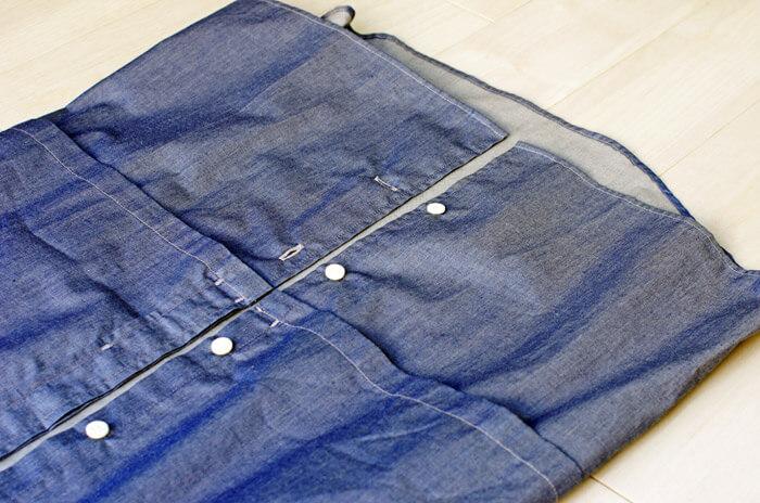 【メンズおすすめブランド】masao shimizu(マサオ シミズ)|2016ssの衿切り抜きシャツ|独特のパターンであることを示す写真