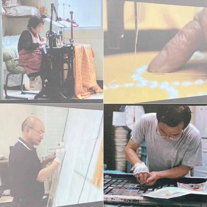 ミナペルホネンの展覧会「皆川明 つづく」 in 神戸・兵庫県立美術館|職人達の写真
