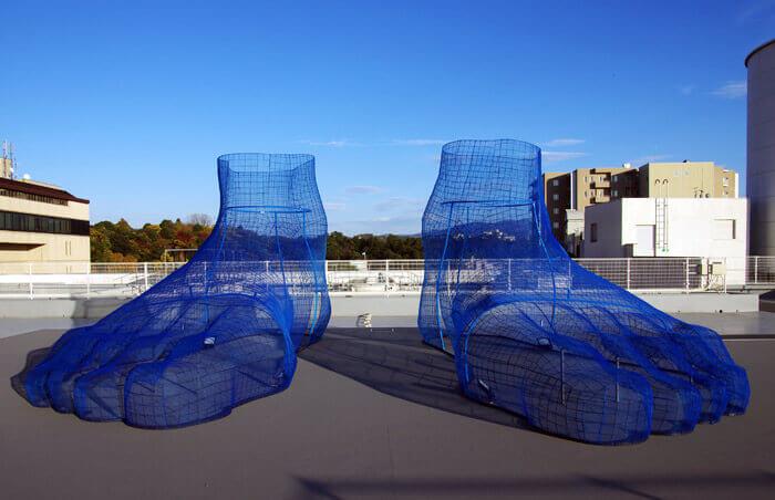 KAMU sky:久保寛子のアート作品「泥足」