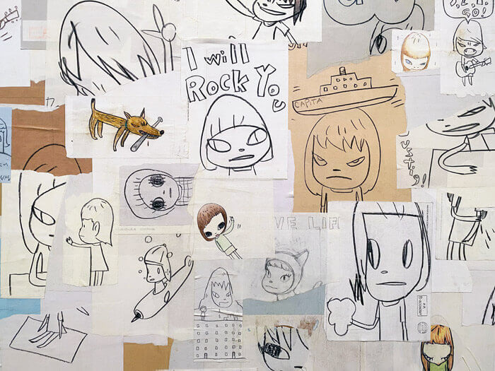 OKETA COLLECTION:奈良美智のCollage of Previously Unreleased Drawing Ⅱ
