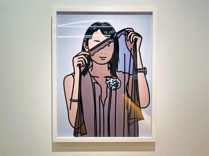 ブラー (Blur)のベスト盤のジャケットデザインで有名な「JULIAN OPIE(ジュリアン・オピー)」の個展「Portraits.(ポートレート)」in 大阪・TEZUKAYAMA GALLERYに行ってきた |似顔絵の作品