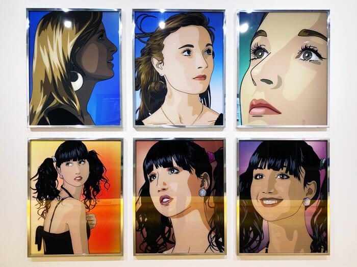 ブラー (Blur)のベスト盤のジャケットデザインで有名な「JULIAN OPIE(ジュリアン・オピー)」の個展「Portraits.(ポートレート)」in 大阪・TEZUKAYAMA GALLERYに行ってきた |2011年の作品
