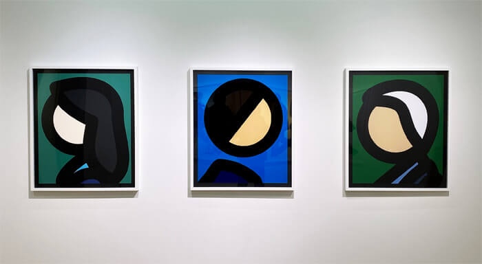 ブラー (Blur)のベスト盤のジャケットデザインで有名な「JULIAN OPIE(ジュリアン・オピー)」の個展「Portraits.(ポートレート)」in 大阪・TEZUKAYAMA GALLERYに行ってきた |作品展示の写真2