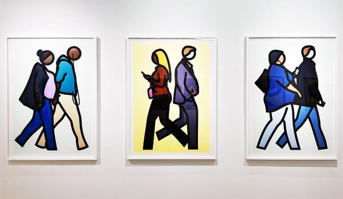 ブラー (Blur)のベスト盤のジャケットデザインで有名な「JULIAN OPIE(ジュリアン・オピー)」の個展「Portraits.(ポートレート)」in 大阪・TEZUKAYAMA GALLERYに行ってきた |作品展示の写真3