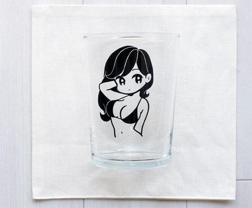 【完売必至アイテム】人気イラストレーター「conix(コニックス)」のビアグラスを購入|正面写真