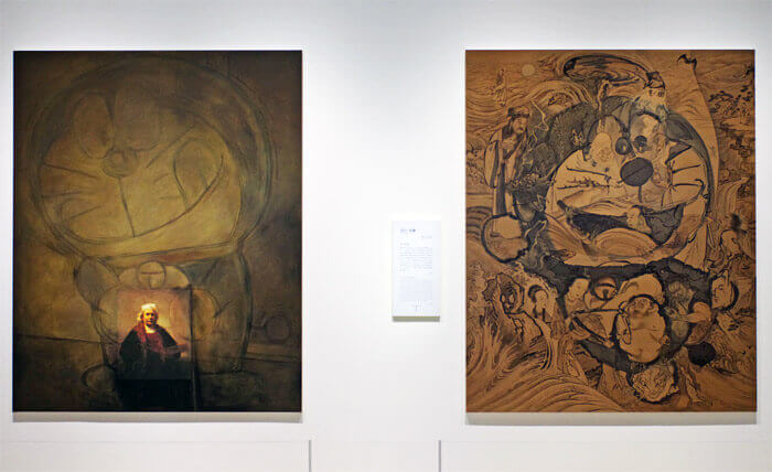 THE ドラえもん展 KYOTO 2021|福田美蘭「レンブラント―パレットを持った自画像」と「波上軍仙図」