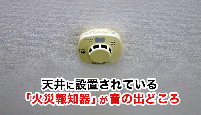 内でピッと電子音がする。音の出どころは天井に設置されている火災報知器